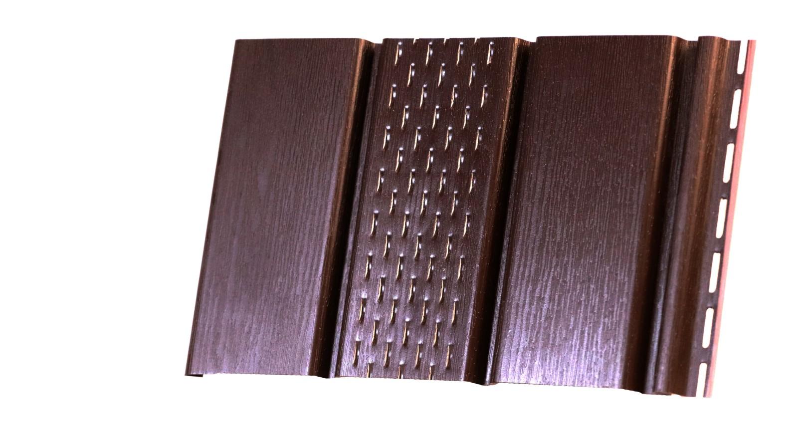 Софіт коричневий перфорований