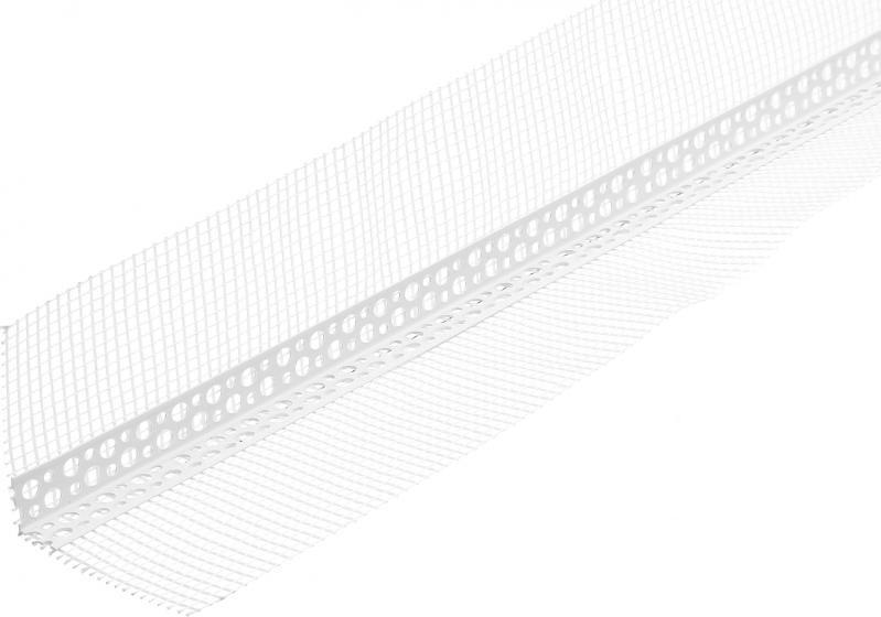 Кутник пластиковий Економ з білою сіткою110г 2500мм