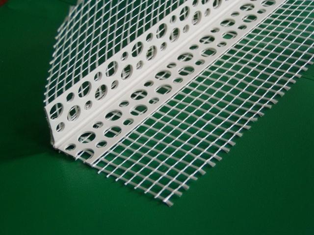 Кутник пластиковий шпакл. Стандарт з сіткою 100*150 125г 2500мм