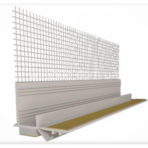 Профіль привіконний 3мм (білий) з самокл.стрічкою і сіткою 100/2500мм/16шт