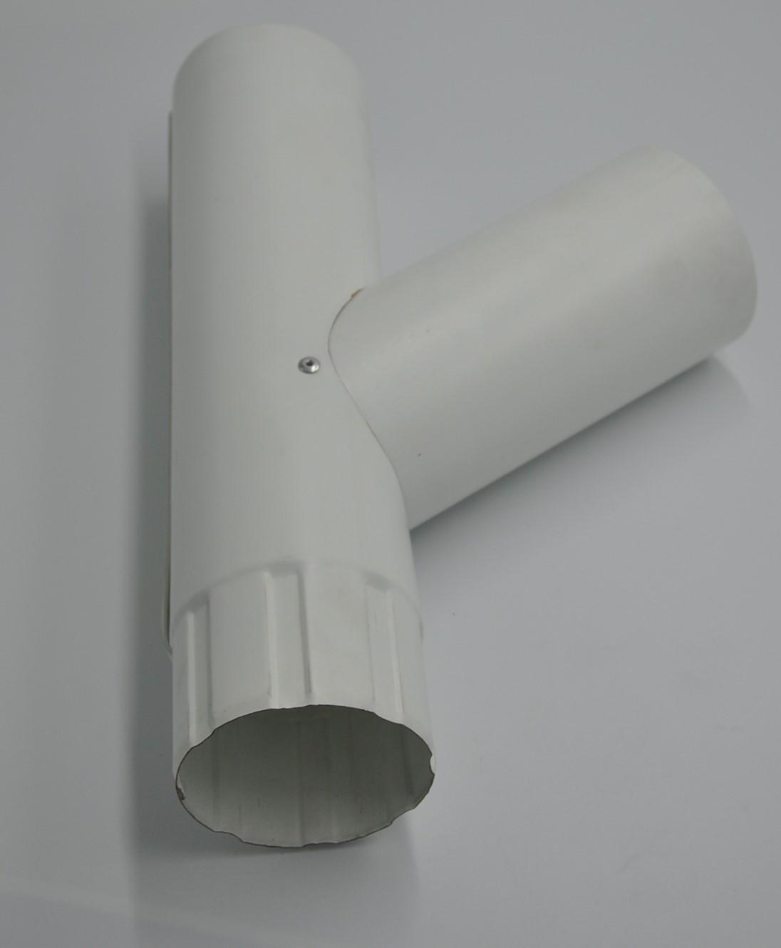 Трійник металевий, білий Aqueduct