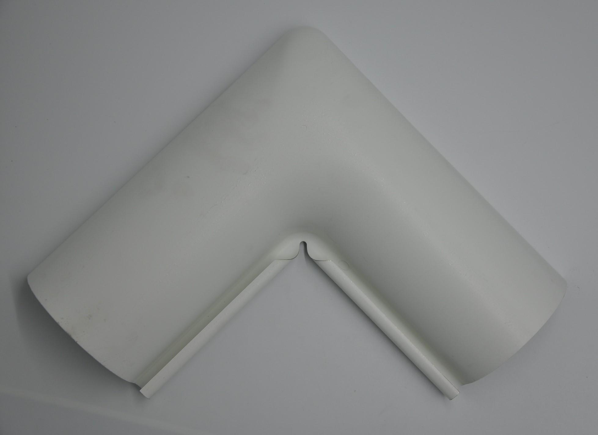 Внутрішній кут металевий, білий 90° Aqueduct