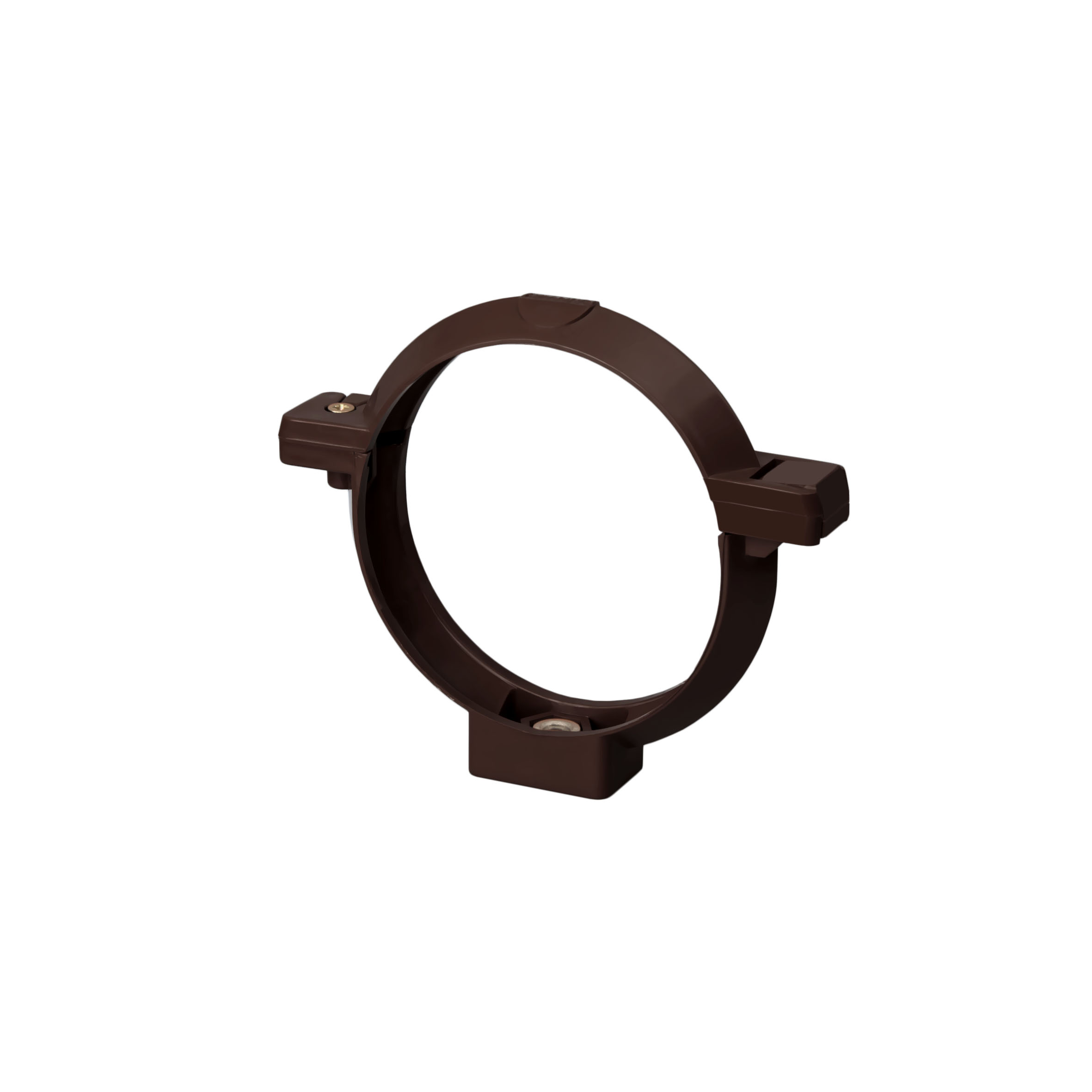 Хомут труби, коричневий 100мм/Ø RainWay