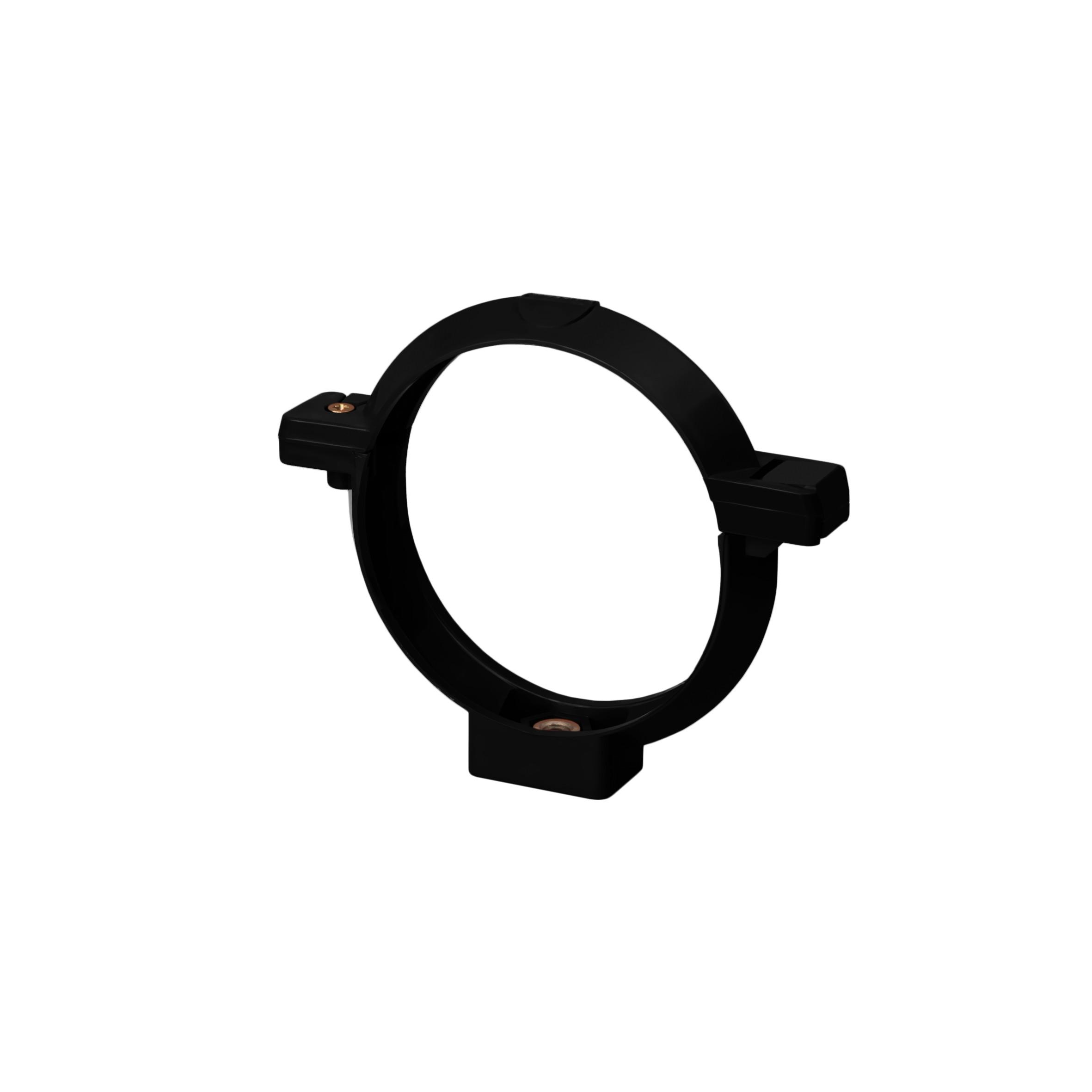 Хомут труби, чорний 100мм/Ø RainWay