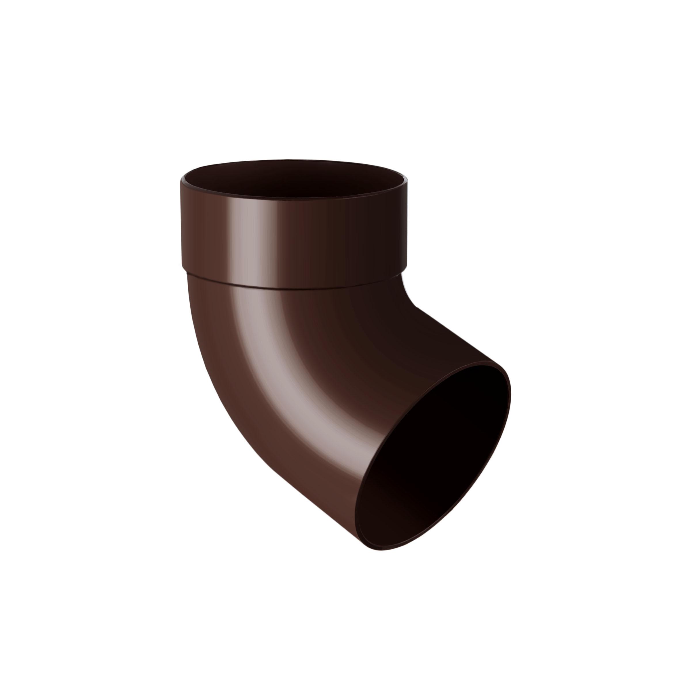 Відвід труби одномуфтовий 67°, коричневий 100мм/Ø RainWay