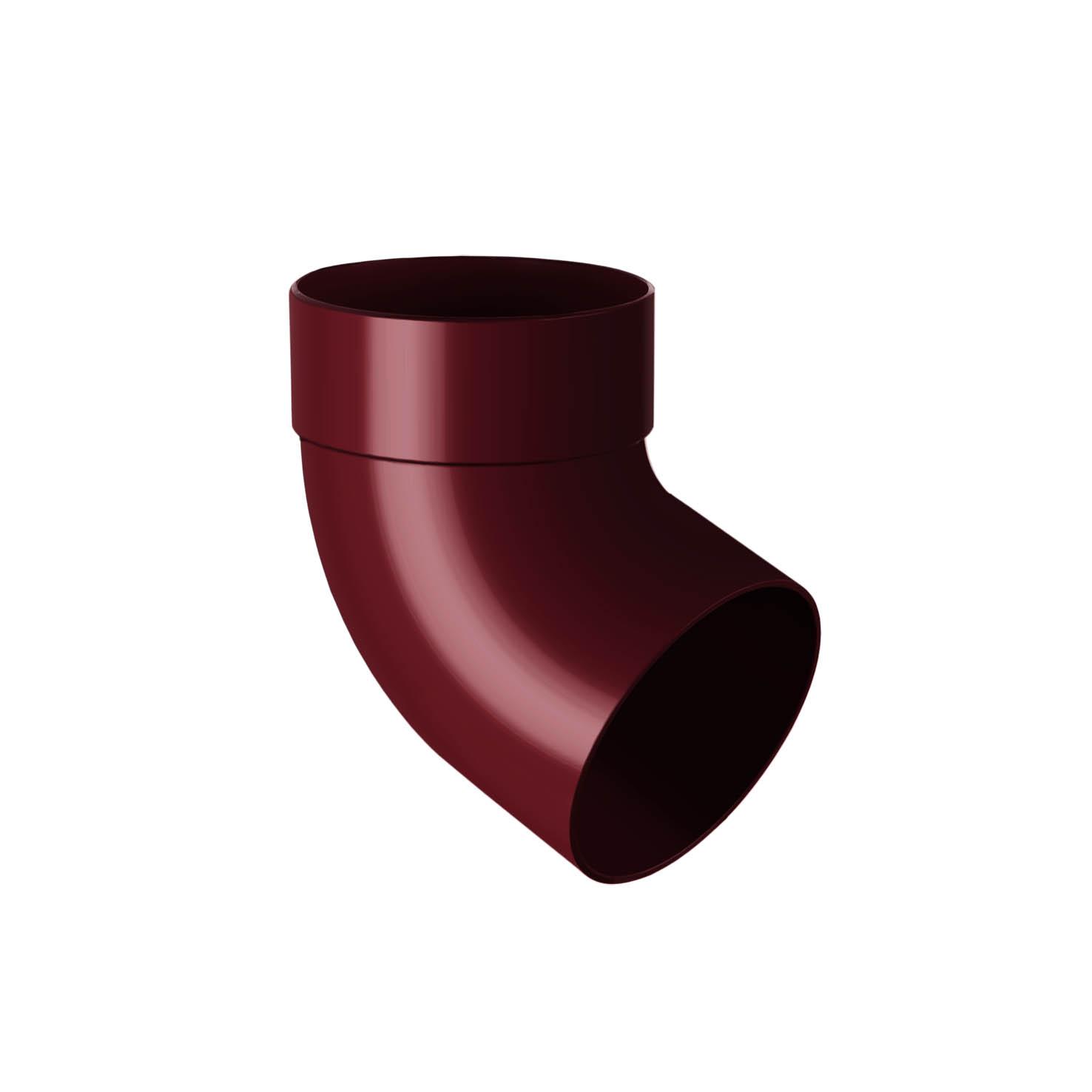 Відвід труби одномуфтовий 67°, червоний 100мм/Ø RainWay