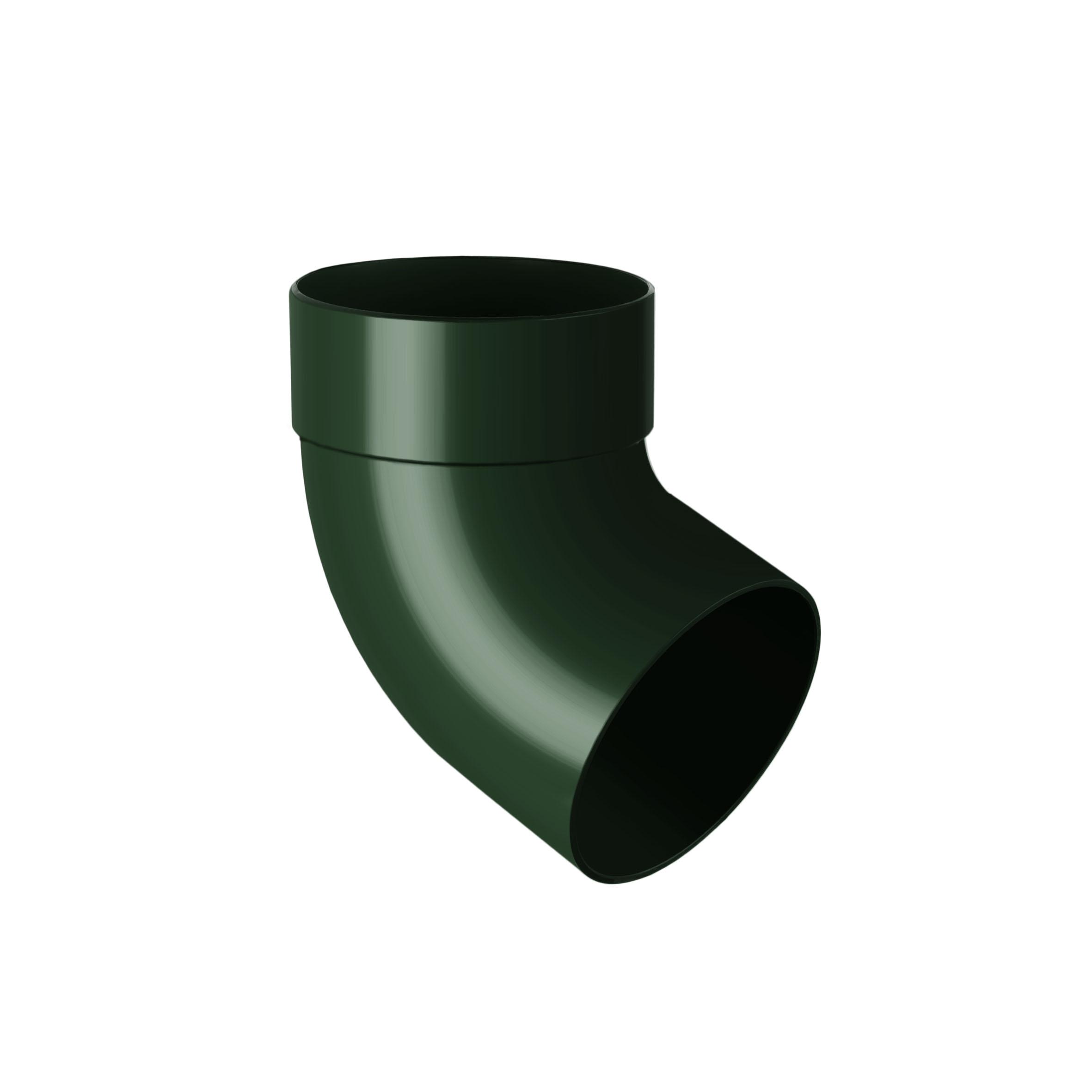 Відвід труби одномуфтовий 67°, зелений 75мм/Ø RainWay