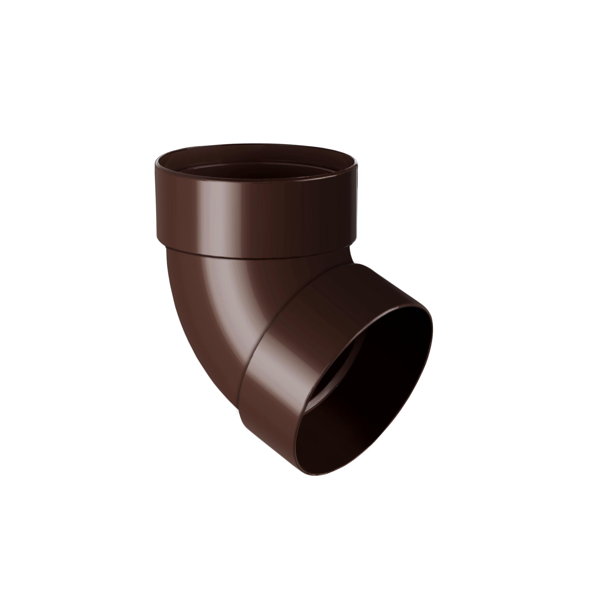Відвід труби двомуфтовий 67°, коричневий 75мм/Ø RainWay