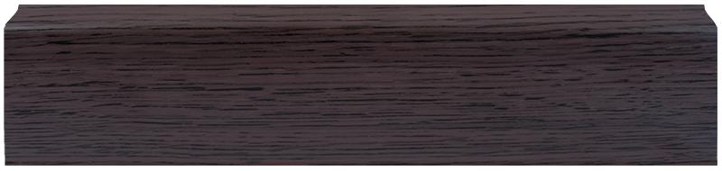 Плінтус DekorPlast 026, Зебрано чорно-коричневий