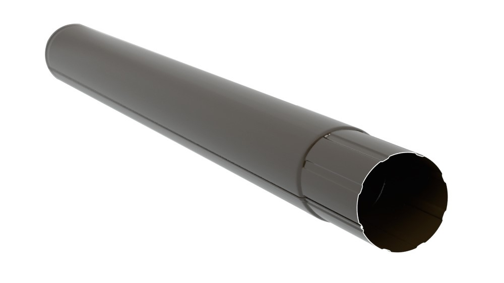 Труба зєднувальна металева, темно-коричнева 87мм/1м Aqueduct