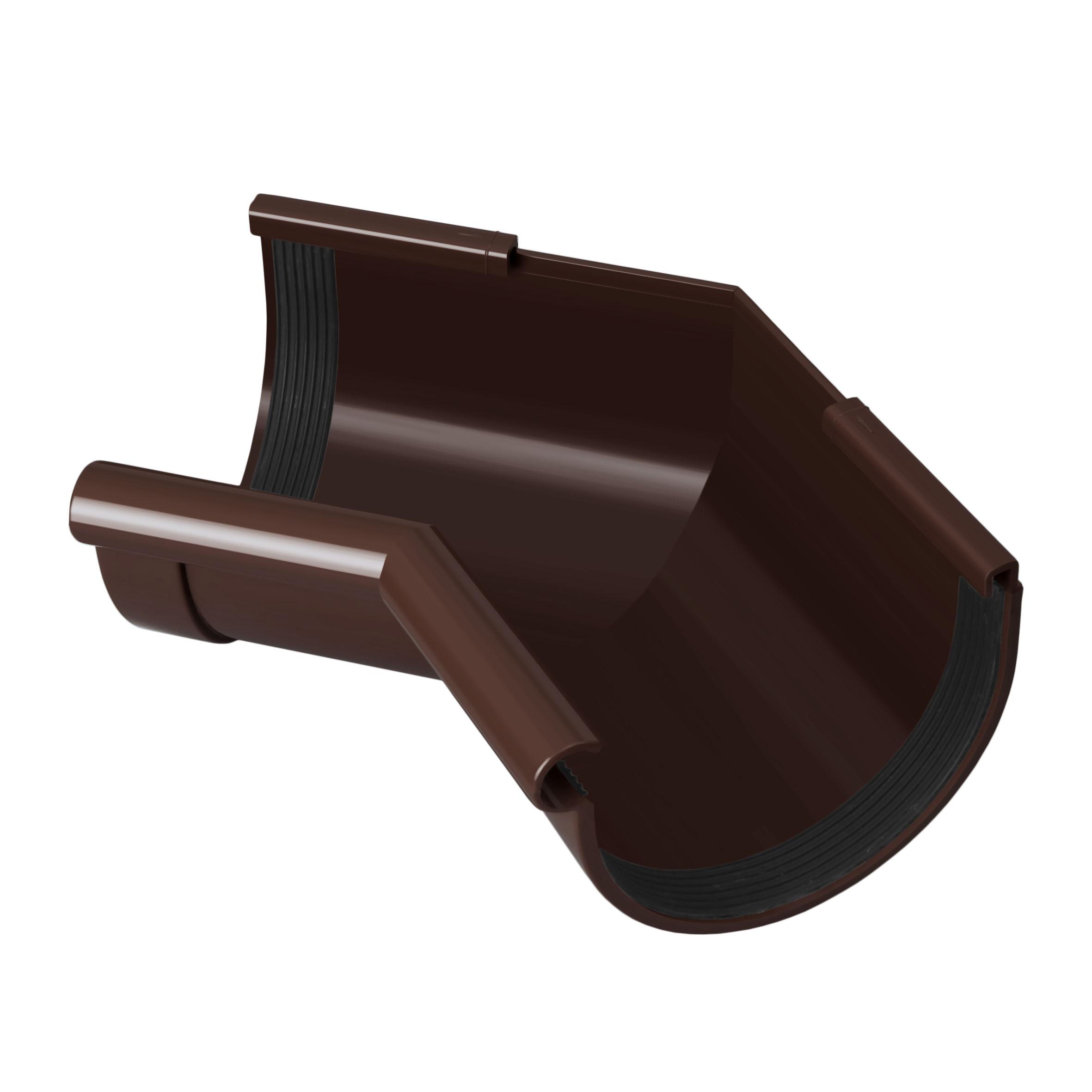 Кут ринви внутрішній 135°, коричневий 90мм/Ø RainWay