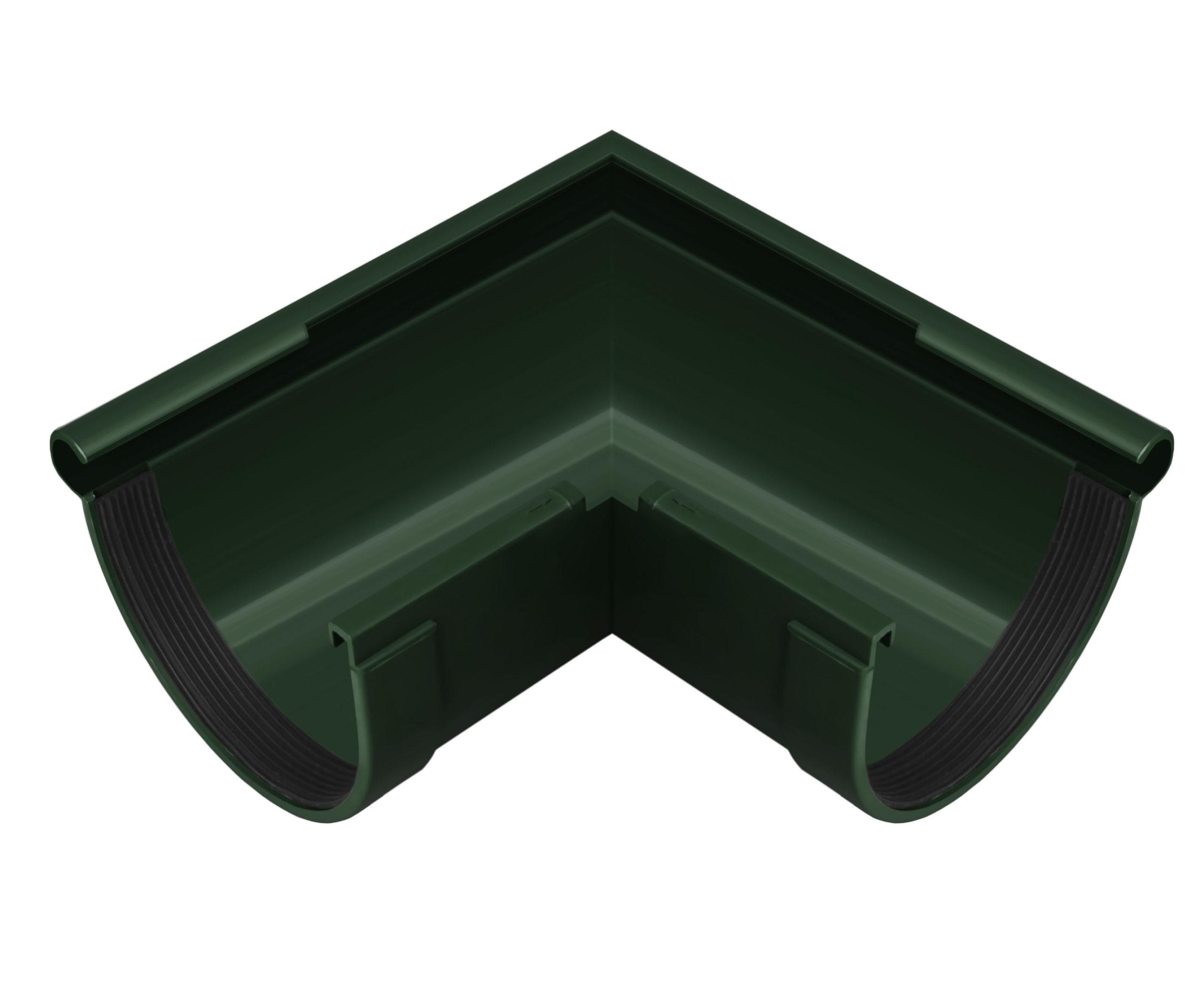 Кут ринви зовнішній 90°, зелений 130мм/Ø RainWay