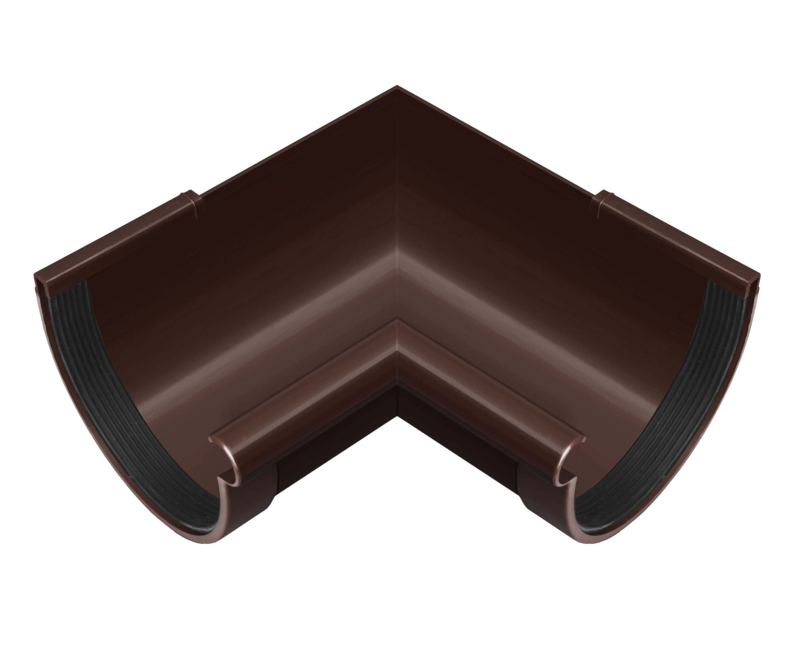 Кут ринви внутрішній 90°, коричневий 130мм/Ø RainWay
