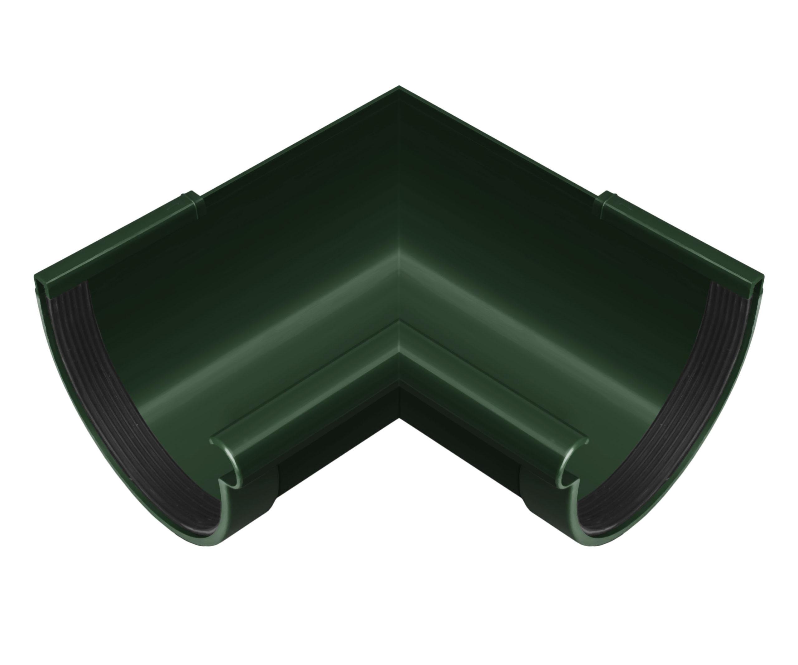 Кут ринви внутрішній 90°, зелений 130мм/Ø RainWay