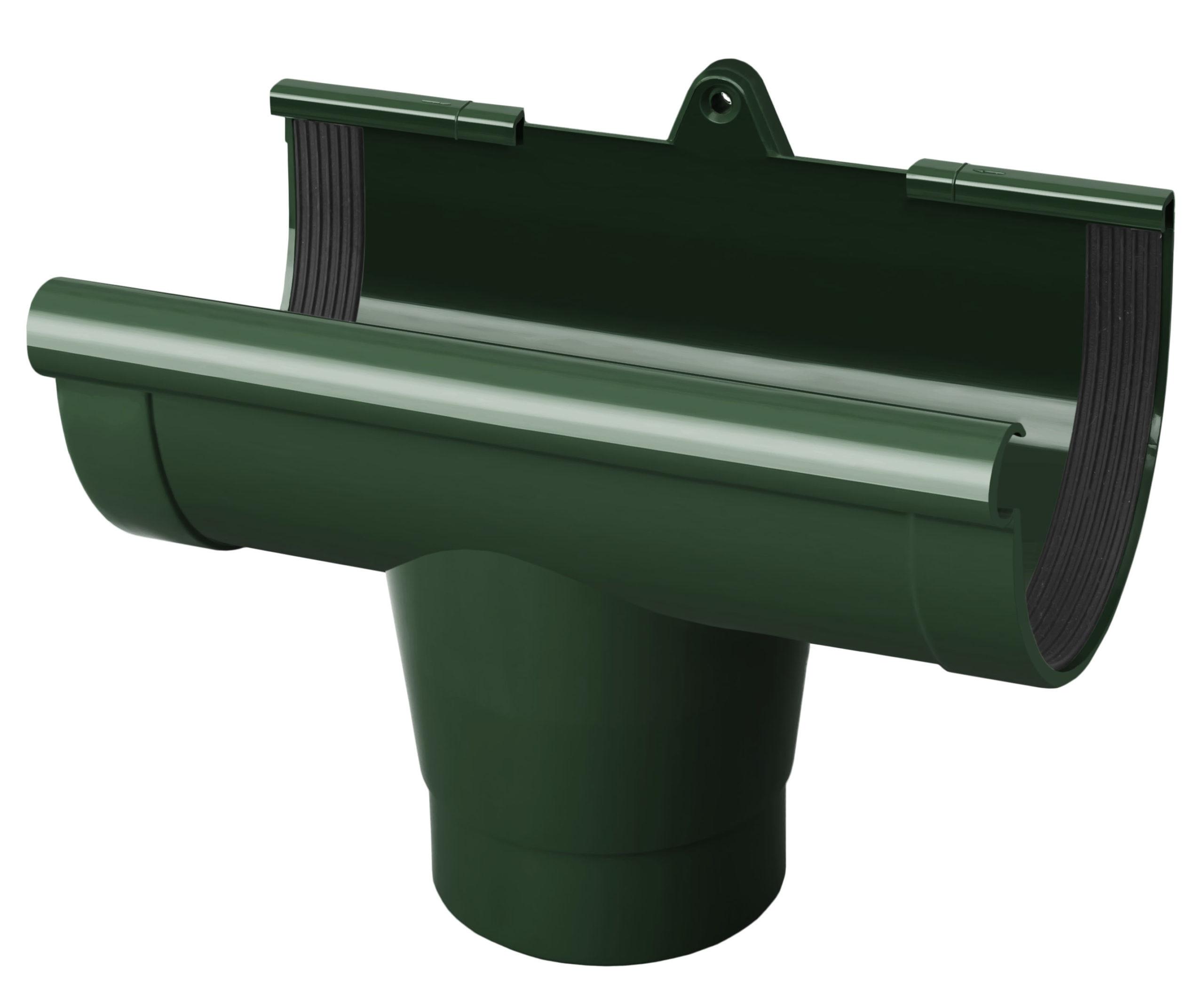 Лійка ринви, зелена 90мм/Ø RainWay