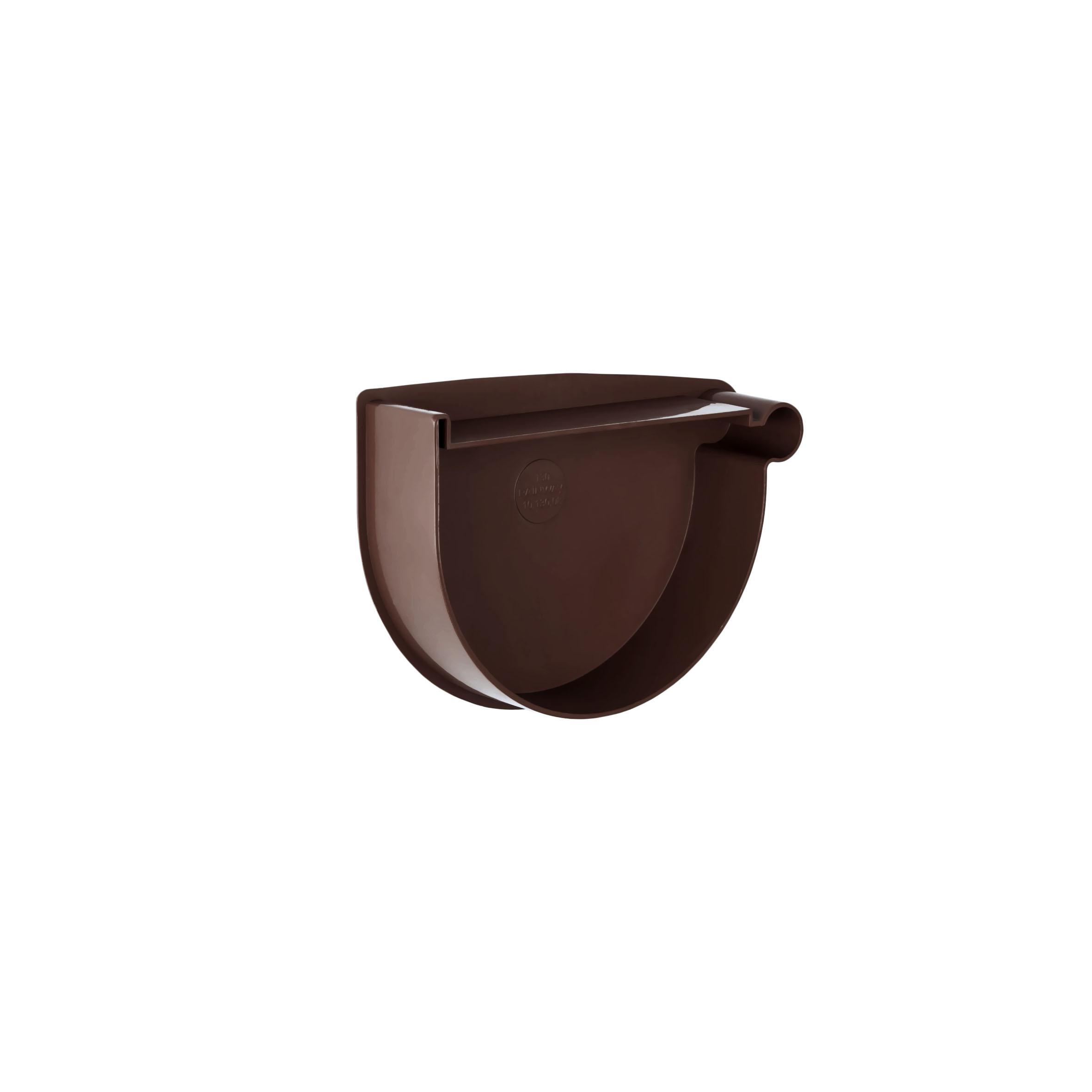 Заглушка лійки права, коричнева 90мм/Ø RainWay